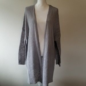 NWT Caslon Gray Heather Duster Cardigan SZ M